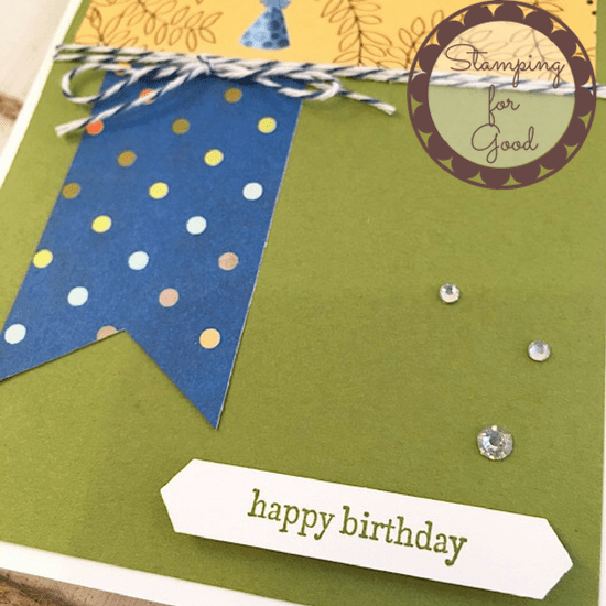 Stamping for Good Stampin Up Card Idea Birthday Memories DSP 3