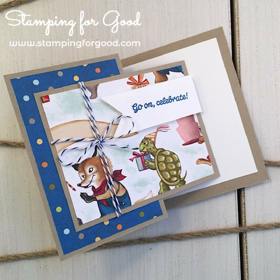 Stamping for Good Stampin Up Card Idea Birthday Memories Fancy Fold