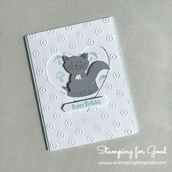 Stamping for Good Stampin Up Card Idea Fox Builder Punch Cat