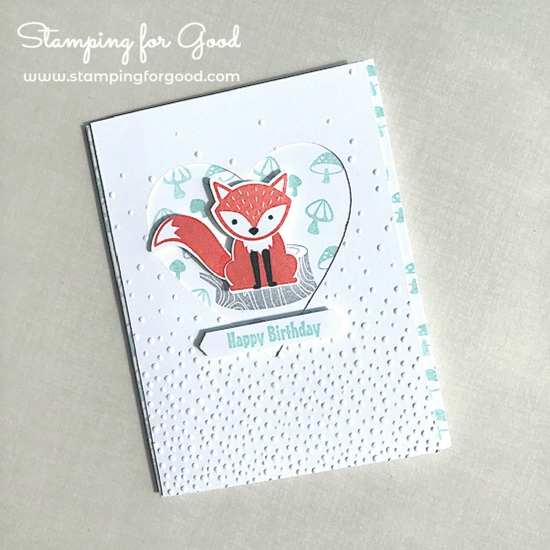 Stamping for Good Stampin Up Card Idea Fox Builder Punch Foxy Friends