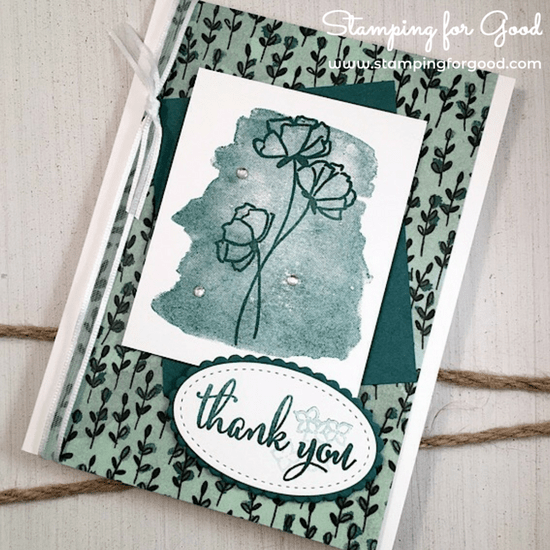 Stamping for Good Stampin Up Card Idea Love What You Do Thank You