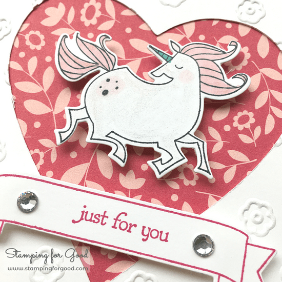 Stamping for Good Stampin Up Card Idea Magical Day Unicorn DSP