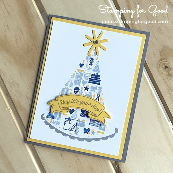 Stamping for Good Stampin Up Card Idea Party Hat Birthday Boy
