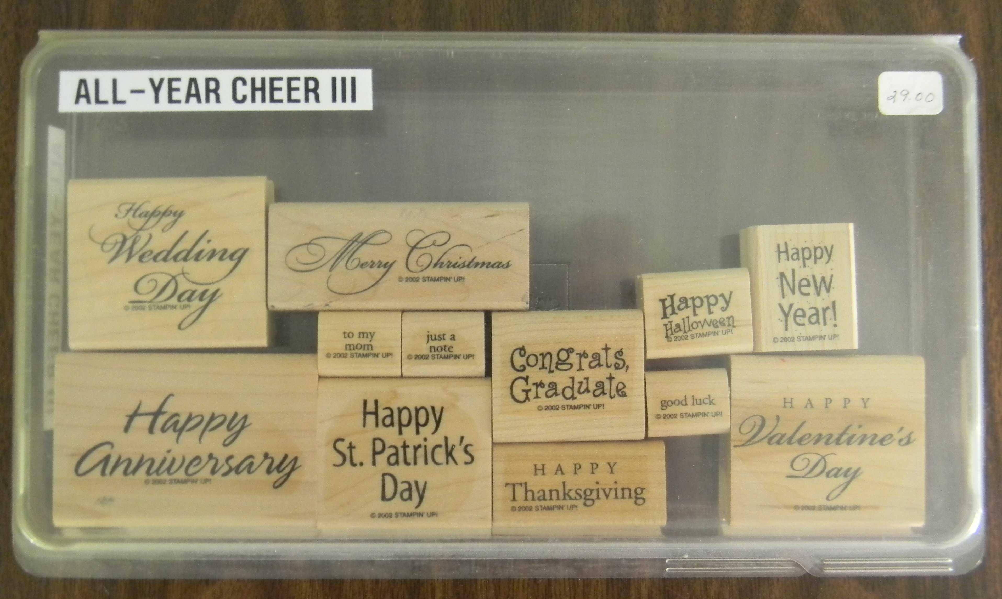 stamp set oldie but goodie Like new plus two bonus separate stamps. CURVY VERSES Retired Stampin Up wooden