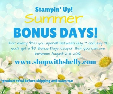 Stampin' Up! Summer Bonus Days