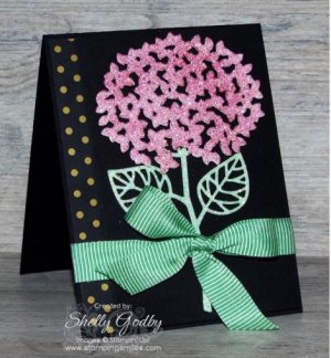 Stampin' Up! Beautiful Branches with Custom Color Glimmer Paper