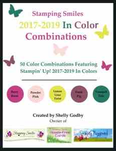 Get 50 custom Stampin' Up! 2017-2019 In Color Combinations when you order the Stamping Smiles 2017-2019 In Color Combinations e-book!