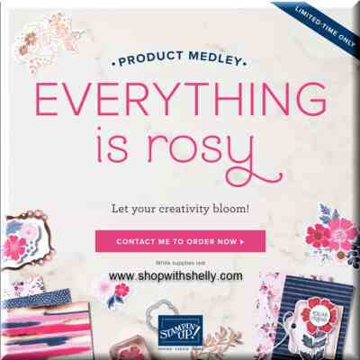 Stampin' Up! Everything is Rosy available May 1, 2019, only while supplies last!