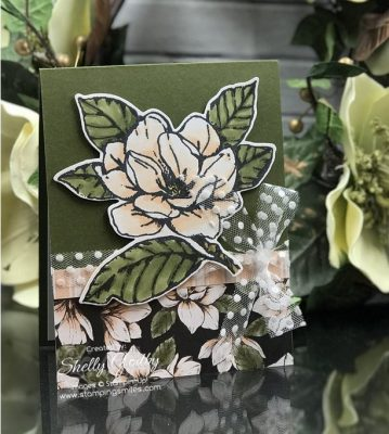 Stampin' Up! Good Morning Magnolia card designed by Shelly Godby of www.stampingsmiles.com with the Stampin' Up! Good Morning Magnolia Stamp Set
