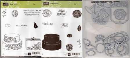Cake Soiree Clear-Mount Stamp Set & Sweet Cake Framelits Dies $59