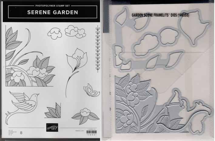 Serene Garden Photopolymer Stamp Set & Garden Scene Framelits Dies $39