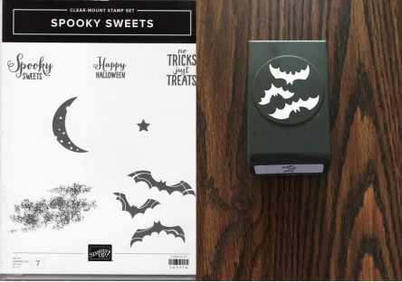 Spooky Sweets Clear-Mount Stamp Set & Spooky Bats Punch $30.00