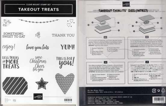Takeout Treats Clear-Mount Stamp Set & Takeout Thinlits Dies $49.00