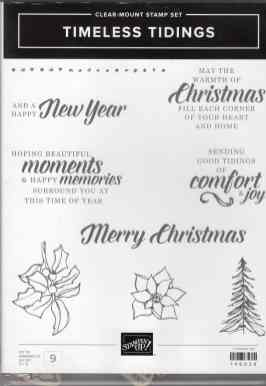 Timeless Tidings Clear-Mount Stamp Set $20.00