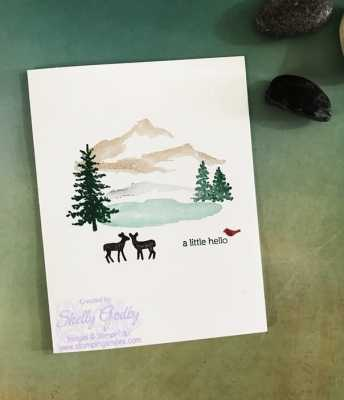Clean and simple scenery card with the Stampin' Up! Snow Front Stamp Set