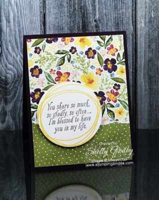 Stampin' Up! Special Celebrations card with the lovely Best Dressed Designer Series Paper