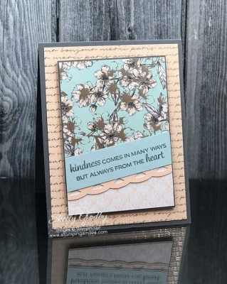 Handmade cards made with the Stampin' Up! Parisian Blossoms Specialty Designer Series Paper and Stampin' Up! Beautifully Braided Stamp Set
