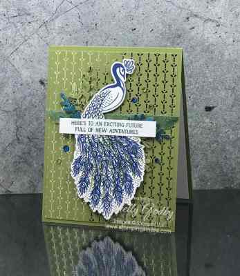 Rich and regal Stampin' Up! Royal Peacock card