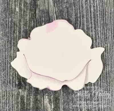 How to build the Stampin' Up! Peony Dies flower