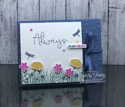 Handmade greeting cards with the Stampin' Up! Field of Flowers Stamp Set www.stampingsmiles.com
