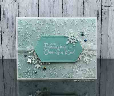 Stampin' Up! Snowflake Wishes card www.stampingsmiles.com