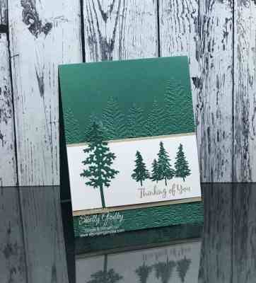 Handmade nature card idea with Stampin' Up! In the Pines Stamp Set
