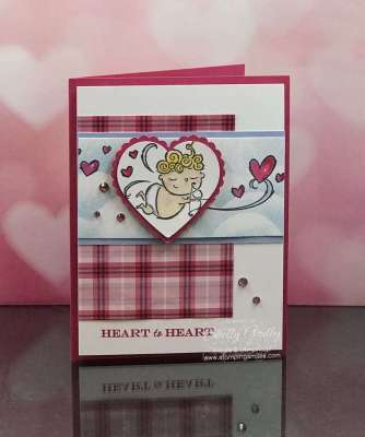 Adorable handmade Valentine's Day card with Stampin' Up! Flight of Fancy Stamp Set