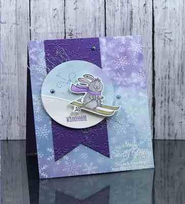 Handmade winter card with Stampin' Up! Freezin' Fun