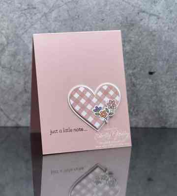 Heartfelt clean and simple card with Stampin' Up! Lots of Heart Stamp Set