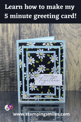 Learn how to make my 5 minute handmade cards!