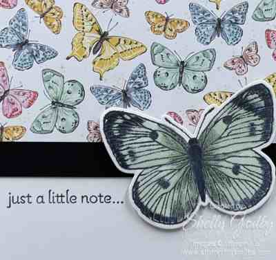 Simple and elegant Stampin' Up! Butterfly Brilliance card idea