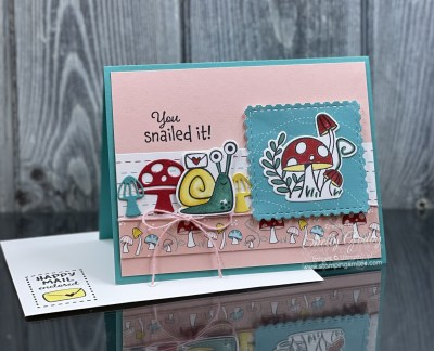 Stampin' Up! Snailed It card by www.stampingsmiles.com