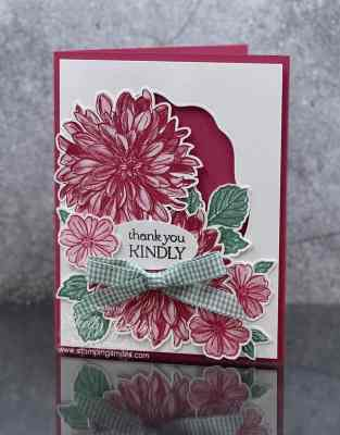 My second version of my Stampin' Up! Delicate Dahlias cards www.stampingsmiles.com