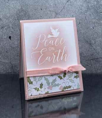 Soft and pretty Stampin' Up Thinking Thanks & Peace card idea www.stampingsmiles.com