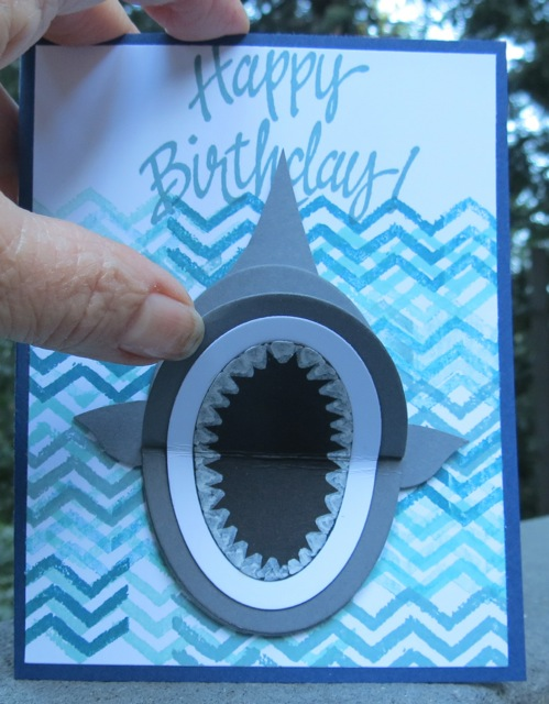 """AWESOME AUSTIN'S """"SHARK"""" BIRTHDAY CARD Stamping With Blythe"""