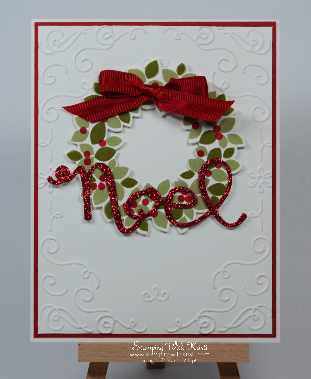 Stampin Up Wondrous Wreath Stamping With Kristi
