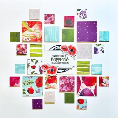 scrap pagina Peaceful Poppies