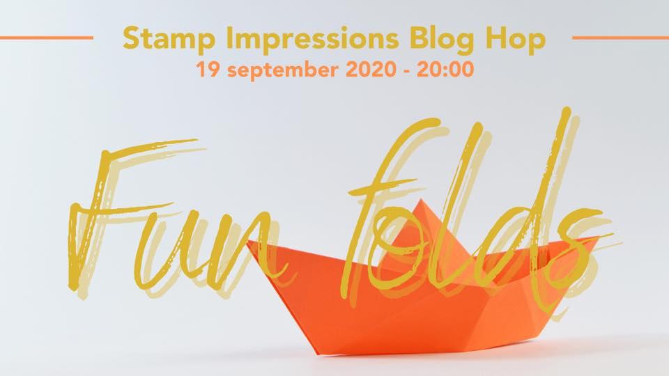 fun fold, stamp, impressions, blog hop