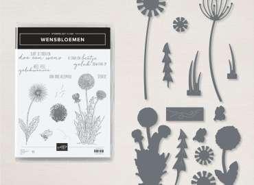 wensbloemen, nederlands, productpakket, bundle, bundel, garden wishes, paardenbloemenstansen, dies, dandy wishes, stampin up, stampin treasure