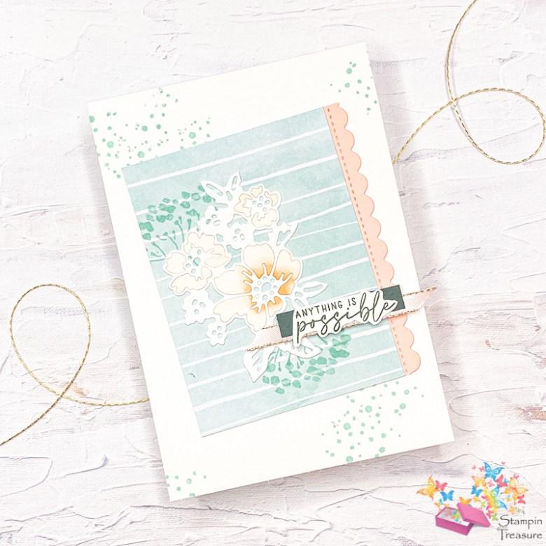 spring fling, hand-penned Petals, stampin up, stampin treasure