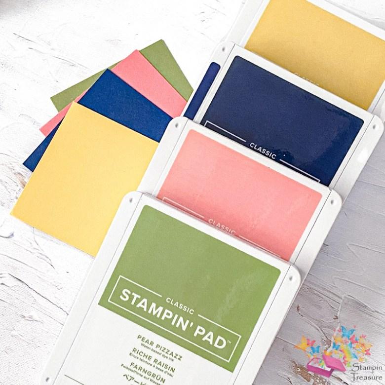 spelen met kleur, stampin up, kleuren, inkt, stampin treasure