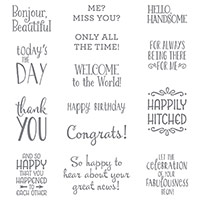 Happy Happenings Clear-Mount Stamp Set by Stampin' Up!