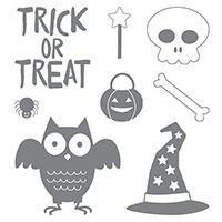 Howl-o-ween Treat Clear-Mount Stamp Set by Stampin' Up!