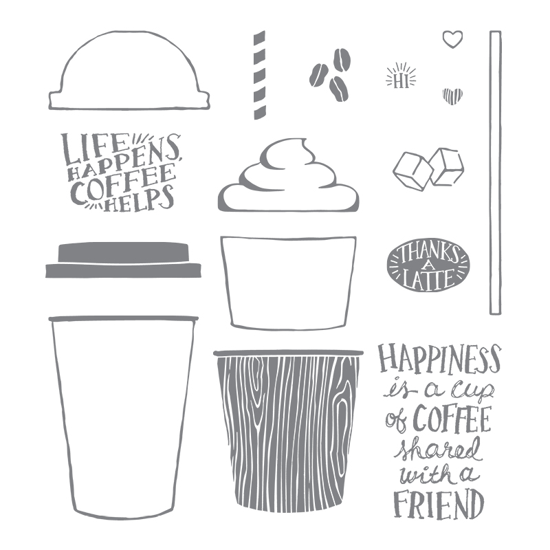Coffee Café Photopolymer Stamp Set