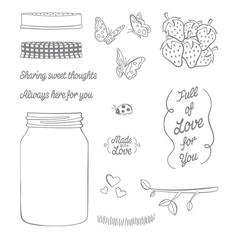 Sharing Sweet Thoughts Wood-Mount Stamp Set