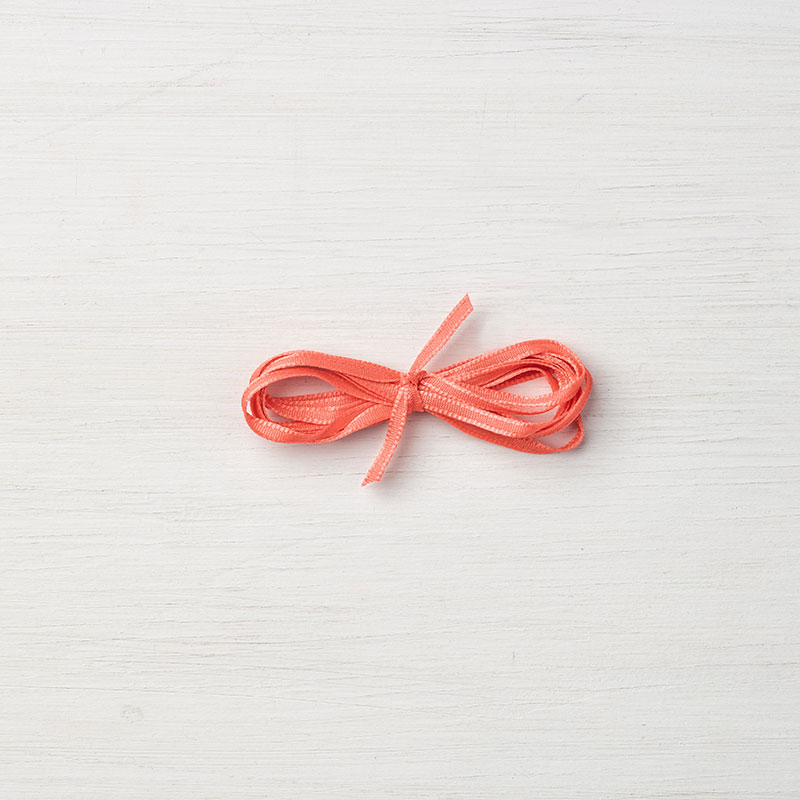 "Calypso Coral 1/8"" Sheer Ribbon"