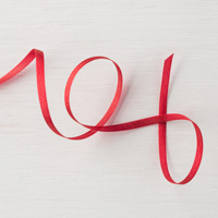 Real Red 1/8 (3.2 mm) Solid Ribbon