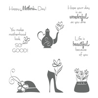 A Mother's Flair Clear-Mount Stamp Set