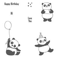 Party Pandas Clear-Mount Stamp Set
