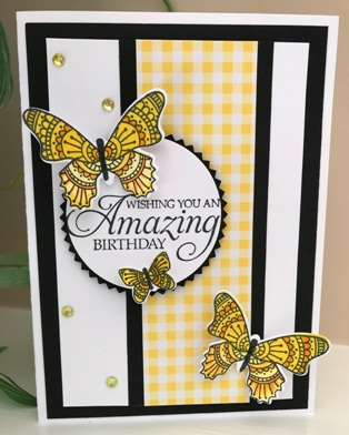 Stampin' Up! Butterfly Gala Birthday Card Idea | ~~ Stampin